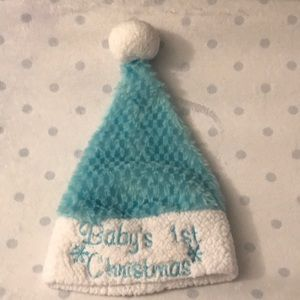 Other - Baby's 1st Christmas blue Santa hat
